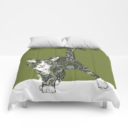 William Morris cat Comforters