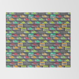 Running Shoes and Race Bibs Throw Blanket