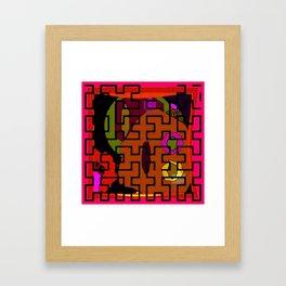 Orange Maze Framed Art Print