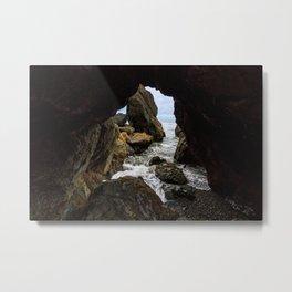 Ruby Beach Sea Cave Metal Print