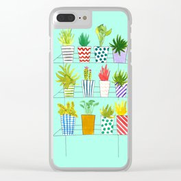 Plant Rack Clear iPhone Case
