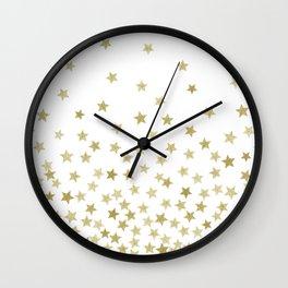 STARS GOLD Wall Clock
