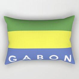 flag of gabon Rectangular Pillow