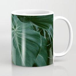 Tropical Plants on Black Coffee Mug