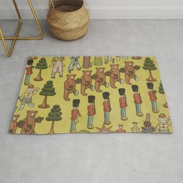Vintage Christmas Toys and Nut Crackers (1906) Rug