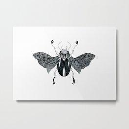 Beetle #4 B&W Metal Print