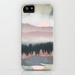 Forest Lake Evening iPhone Case