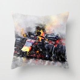Max Verstappen Racing Throw Pillow