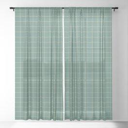 Tile - Green Sheer Curtain