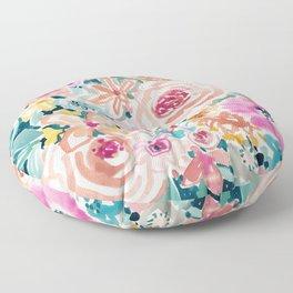 SMELLS LIKE PEACH BEACH Floor Pillow