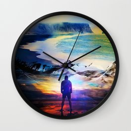 Edge Of Time Wall Clock