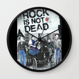 Rock is not dead Wall Clock