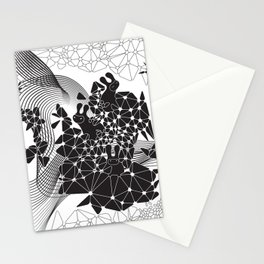 Geometric Nature Garden Stationery Cards