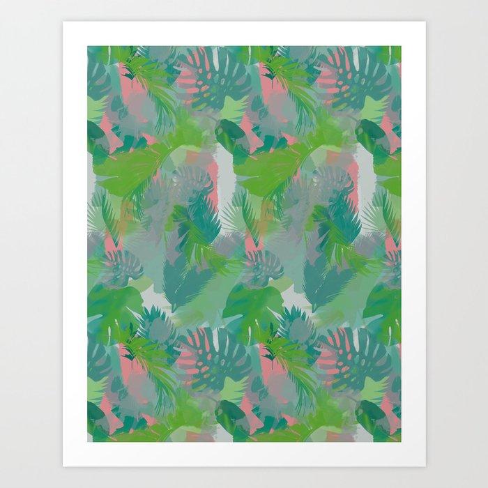 Jungle Hush Wallpaper Art Print