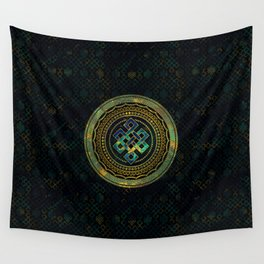 Marble and Abalone Endless Knot  in Mandala Decorative Shape Wall Tapestry
