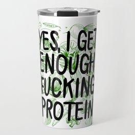 Vegan Enough Protein print - Butcher Vegan Protein products Travel Mug