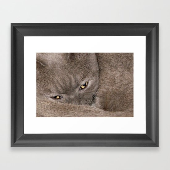 I'm Watching You Framed Art Print
