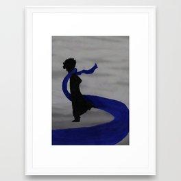 Sherlock Silhouette  Framed Art Print