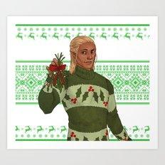Very Merry Zevran Art Print