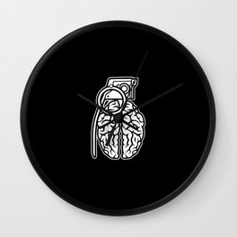 Grenade Brain Wall Clock