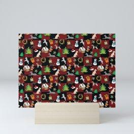 Christmas Dogs and Christmas Trees Mini Art Print