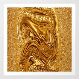 Curvaceous 3 ......flowing liquid color....original art Art Print