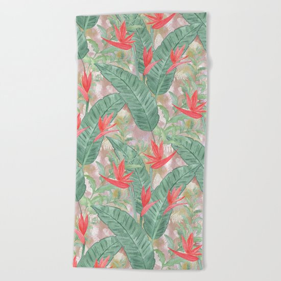 Tropical pattern 3 Beach Towel