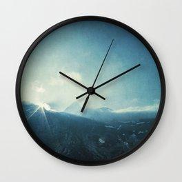 LightFall - Sunrise over the Italian Alps Wall Clock