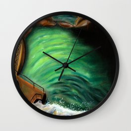 Over the falls Wall Clock