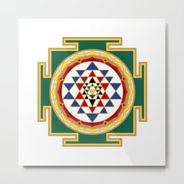 Sri Yantra colored Metal Print