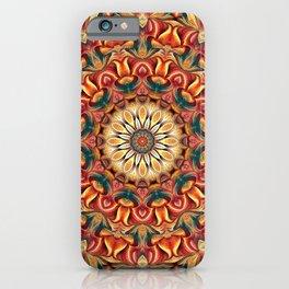 Flower Of Life Mandala (Igneous) iPhone Case
