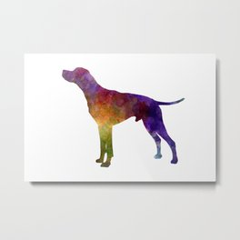 English Pointer in watercolor Metal Print