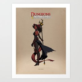 D&R Group 1: Diana Astaroth Art Print