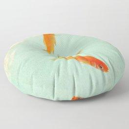 Goldfish in the sky Floor Pillow