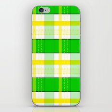Yellow and Green Plaid iPhone Skin
