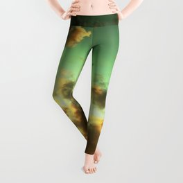 NEPHELAI SERIES Radiant sunset sky  Leggings
