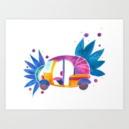 Groovy Rickshaw Art Print