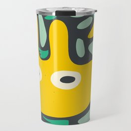 Yellow Cool Monsters for Kids Abstract Art Pattern DecorationCool Monsters for Kids Abstract Art Pattern Decoration Travel Mug