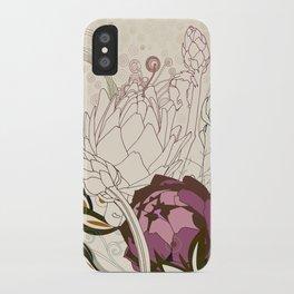 Peach and purple  artichoke iPhone Case