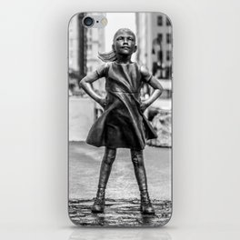 Fearless Girl NYC iPhone Skin