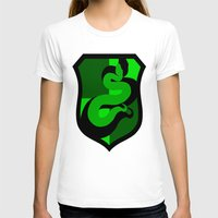 slytherin T-shirts featuring Slytherin Crest by Electric Unicorn