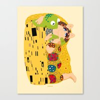 muppets Canvas Prints featuring Klimt muppets by tuditees