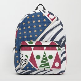 Abstract pattern .Textile patchwork patchwork . Backpack