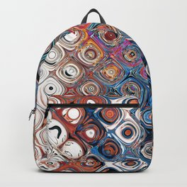 Abstract Glass Beads Backpack