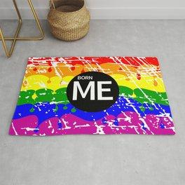 Freedom flag Rainbow Born Me Rug