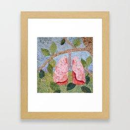 Biology: Lungs Framed Art Print