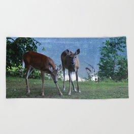 Grazing Deer Beach Towel