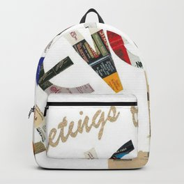 Greetings From Cleveland Print Backpack