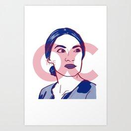 Ocasio Cortez - The OC Art Print