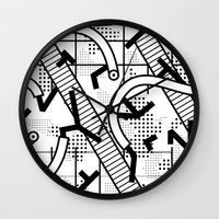 8 bit Wall Clocks featuring 8 bit by Bomburo